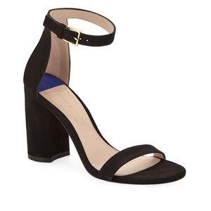 Stuart Weitzman LessNudist 95mmSuede Sandals